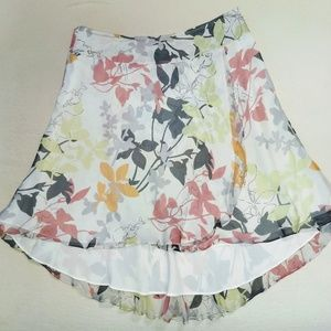 Alfani Petite 10P silk floral mini skirt